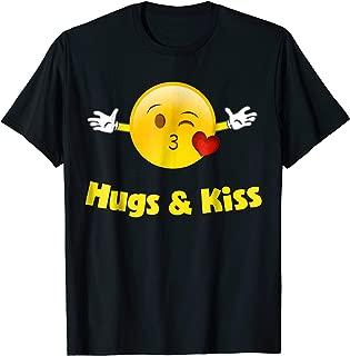 Emoji Shirt Hugs And Kisses Heart Kiss Huggable Emoji Cute