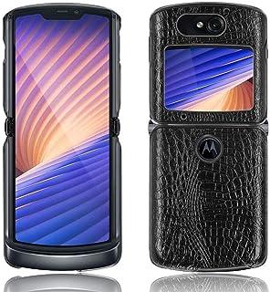 Case for Motorola Razr 5G 2020, Crocodile Pattern Hard Cover Protection Case for Motorola Razr 5G 2020,Black