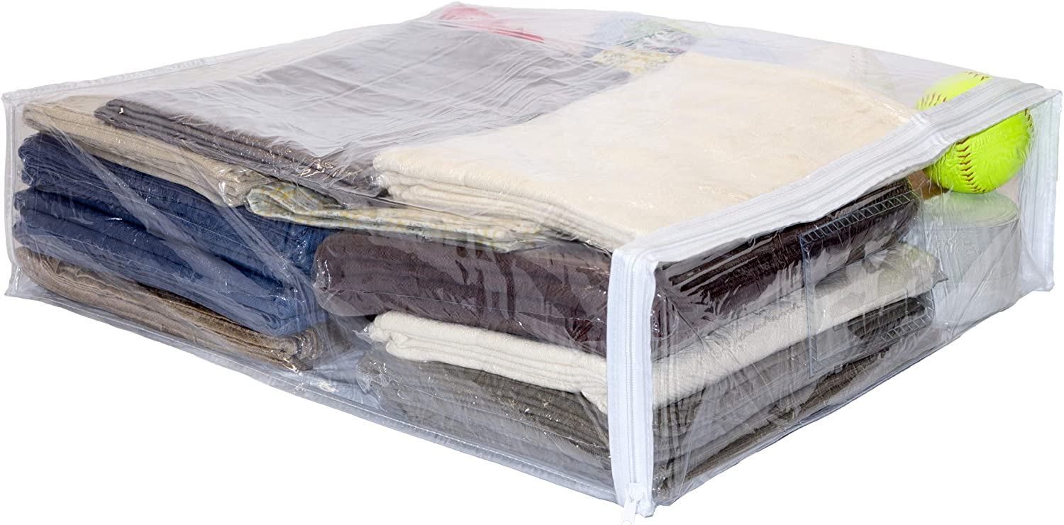Clear Vinyl Deluxe Zippered Max 74% OFF Storage Bags 20 x Inch 6 10-Pack 23