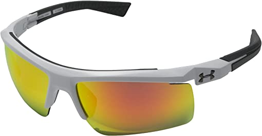 Shiny White/Charcoal Gray Frame/Gray/Orange Multiflection Lens