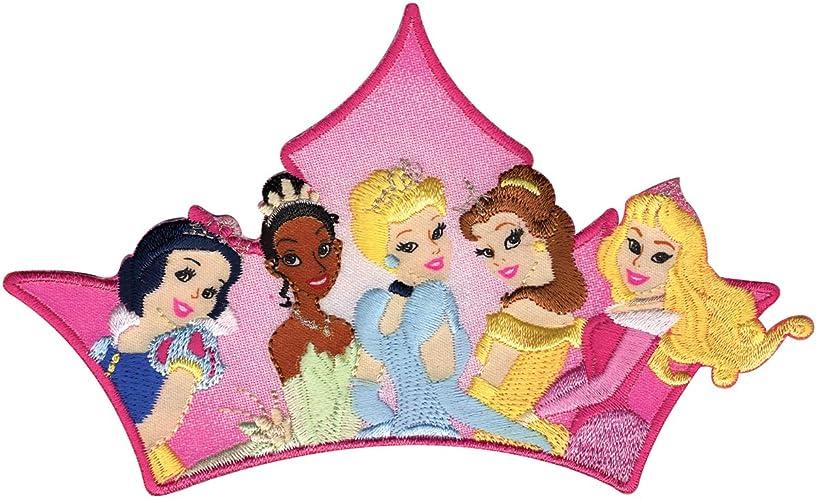 Wright's Disney Princess Iron On Applique Princess Group, Gold/Red/Black