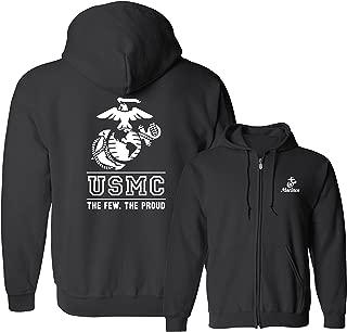 usmc zip up hoodie