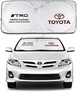 JYMAOYI Toyota Sunshade TRD Windshield Visor Cover Car Window Sun Shade UV Protect Car Window Film for Most Toyota Yaris 4Runner Levin VIOS EX IZOA RAV4 Avalon REIZ C-HR