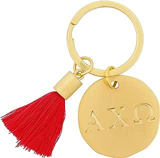 Alexandra And Company Round Tassel Keychain, Alpha Chi Omega