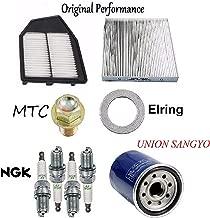 Tune Up KIT Cabin Air Oil Filters Plugs FIT Honda Accord L4; 2.4L 2008-2012