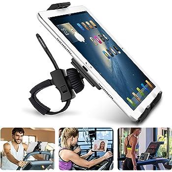 """AboveTEK Prise en Charge pour iPad/iPhone/Tablette, Antichoc 360 Degrés de 3,5""""à 12"""", pour Tablette avec Sangle Extensible pour Cyclisme en Salle/Gymnase/Tapis Roulant/Vélo de Spin/Vélo Elliptique"""