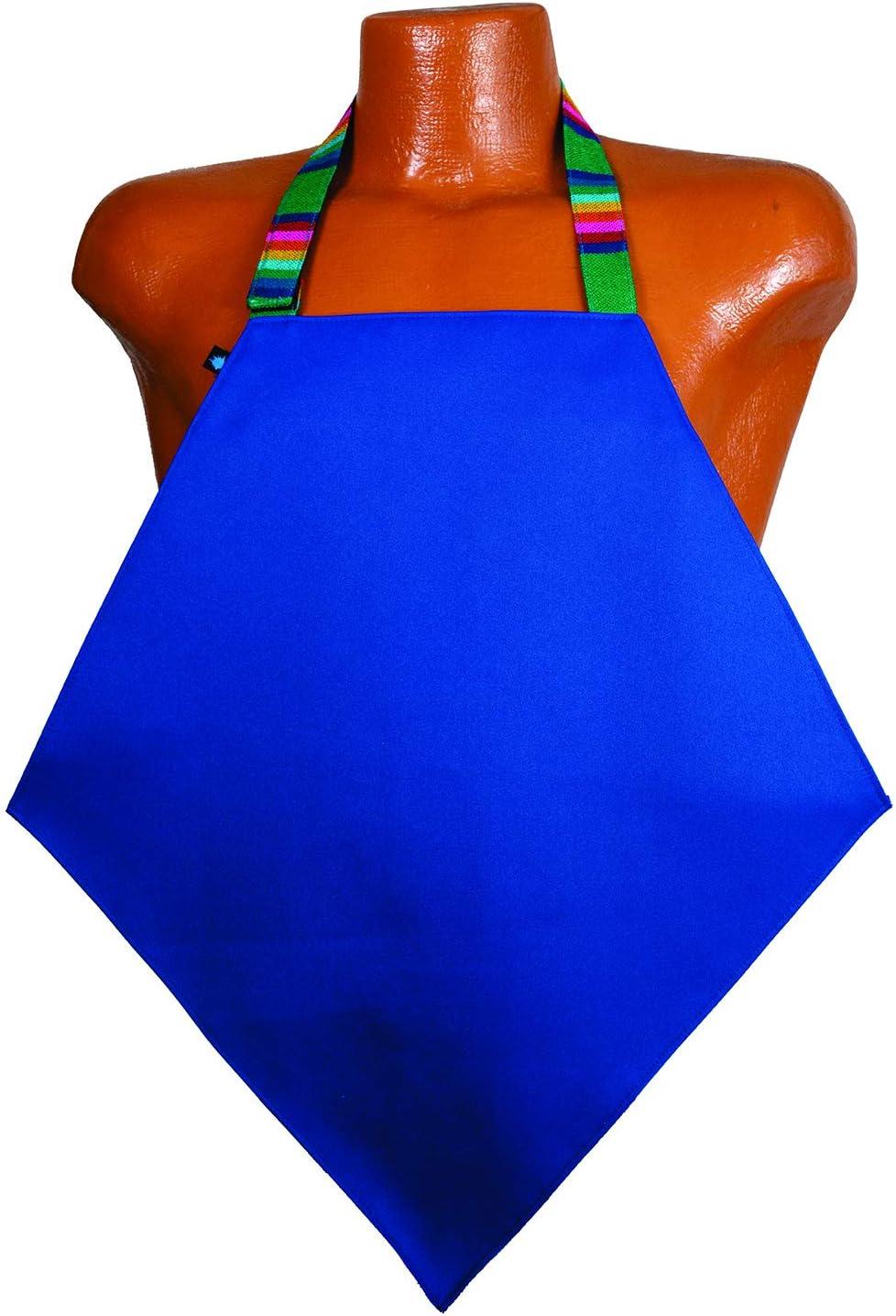 Food Firewall Adult Dining Bib/Mini-Apron-Top Clothing Protectors - Royal Blue Basico: Health & Personal Care