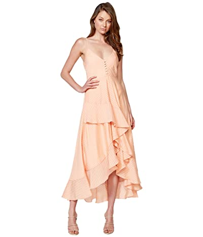 Bardot Sara Frill Dress (Peach Stripe) Women