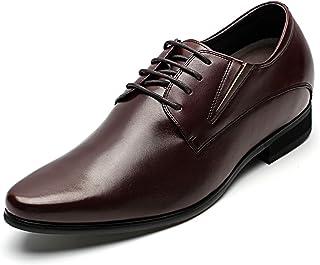 CHAMARIPA Zapatos con Alzas Hombre 8cm - Zapatos Oxfords para Hombres con Cuero Interior Elevado para Aumentar la Altura