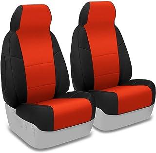 Coverking Custom Fit Seat Cover for Jeep Wrangler JK 4-Door - (Neoprene, Black/Red)