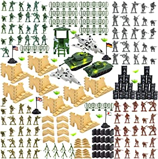 CORPER TOYS Military Base Set Army Men Action Figures Army Toys of WW 2 Military Soldier Battle Group Battlefield Accessor...