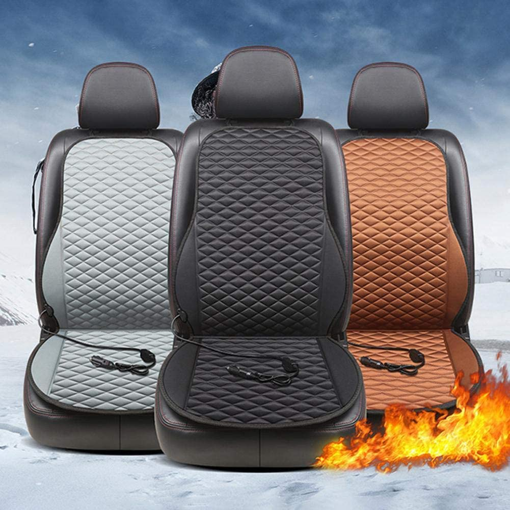 TPHJRM 12V Heated Car Seat Cushion Cover Seat,Heater Warmer Winter Household Cushion cardriver Heated seat Cushion