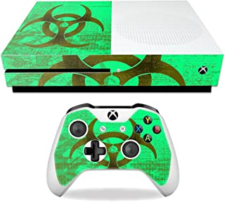 MightySkins Skin Compatible with Microsoft Xbox One S - Biohazard | Protective, Durable, and Unique Vinyl Decal wrap Cover...