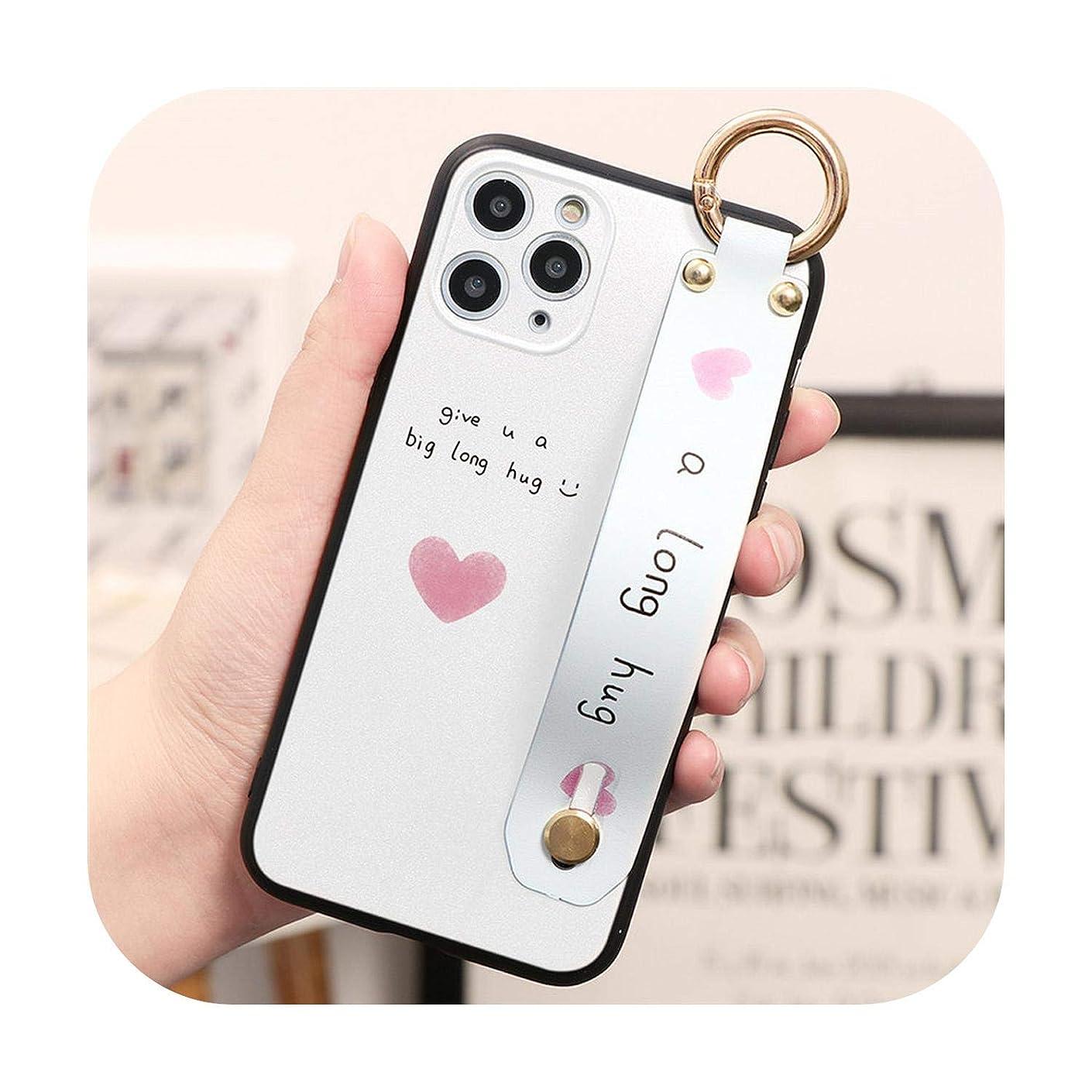 陰気上参照TPUリストストラップ電話ケースfor iphone 11プロ8 7 6 6 sプラス5 XR XS最大ファッション愛ハートカップルカバーfor iphone Xソフト-yuanaxin-For for iphone 6 6S