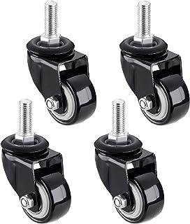 50 mm zwenkwiel met zwenkwiel voor meubels, bout / M8, M10, M12 / X25 mm, 360 掳 zwart zwenkwiel met rem, zwaar uitgevoerde...