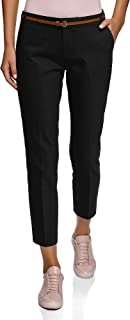 Best black cigarette trousers with belt Reviews