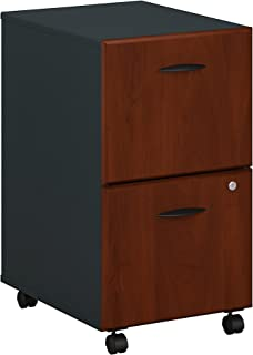 Bush Business Furniture Series A 2 Drawer Mobile File Cabinet, Hansen Cherry/Galaxy