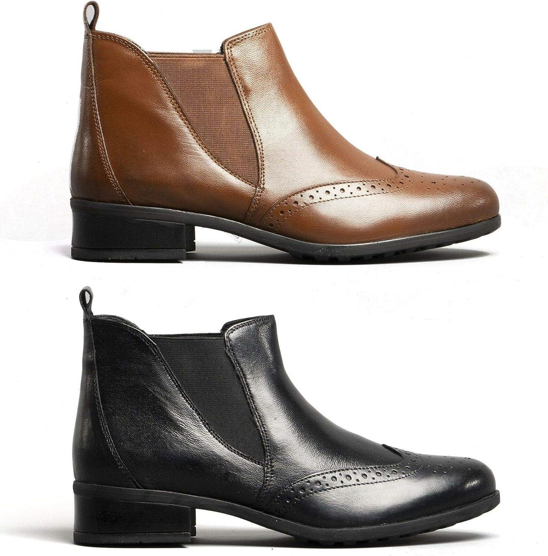 black brogue chelsea boots