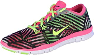 Womens Free 5.0 Training Fit 4 Running Shoes-Pink Pow/Volt/Black-7