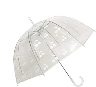 Froufrou fran/çais Traditionnel SMATI Parapluie Femme Chic Long Automatique Beige Solide Anti Vent