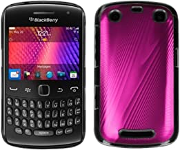 MYBAT BB9360HPCBKCO001NP Premium Metallic Cosmo Case for BlackBerry Curve 9360-1 Pack - Retail Packaging - Hot Pink