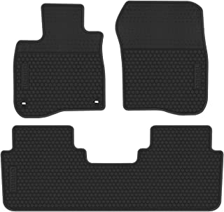 biosp Car Floor Mats for Honda CR-V CRV 5th 2017 2018 2019 Front and Rear Seat Heavy Duty Rubber Liner Full Black Vehicle Carpet Custom Fit-All Weather Guard Odorless