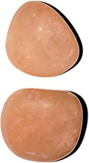 Rare Peach Morganite 2pc set Medium Peachy Pinkish Beryl Tumbled & Polished Natural Healing Crystal Gemstone f/Brazil Heart Chakra Stone
