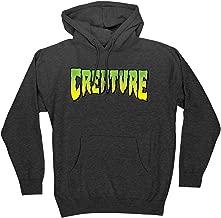Creature Skateboards Logo Charcoal Heather Hooded Sweatshirt - X-Large