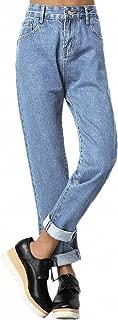 SweatyRocks Women's Juniors Boyfriend Jean High Waist Capri Cropped Denim Jeans