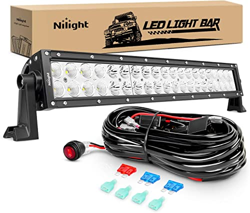 2021 Nilight ZH017 22Inch online 120W Spot Flood Combo Bar Led Off Road Lights with 16AWG Wiring Harness Kit, 2 high quality Years Warranty outlet online sale