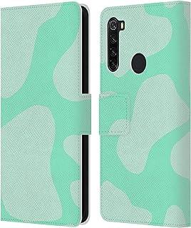 オフィシャル Grace Illustration ミントグリーン カウプリント Xiaomi Redmi Note 8T 専用レザーブックウォレット カバーケース
