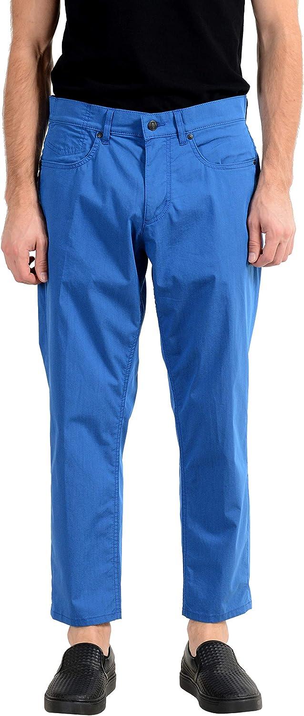 Hugo Boss Hugo334/2 Men's Relaxed Fit Blue Casual Pants US 32/32 IT 32/32