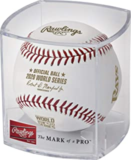 Rawlings 2020 Official MLB World Series Dueling Game Baseball in Cube - Rays vs. Dodgers