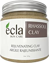 Rhassoul Clay Face and Hair Mask Powder - Spa Grade All Pure Organic Moroccan Ghassoul Facial Treatment for Acne, Dry and Oily Skin. Deep Pore Cleansing Mud Mask (8 Oz)
