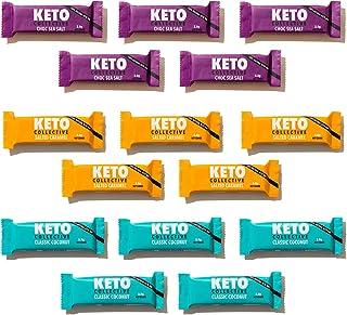 Keto Collective Wholefood Keto Repen I 15x40g I Selection Box I 2-4g Netto Koolhydraten I LOW CARB I Vezelrijk I Natuurlij...