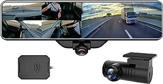 AKEEYO 業界最新の全方位同時録画ドライブレコーダー ミラー型 11.88インチ 前後カメラ 水平360度 垂直220度 超広角 前1920P後1080P ミラー 長方形タイプ ドラレコ GPS搭載 音声録音 2020最新スマートルームミラ...