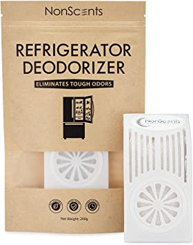 Refrigerator Deodorizer Reusable Air Purifier Container by BigLeef Durable Odor Absorber Refillable Baking Soda Odor Eliminator for Fridge and Freezer Spill Proof