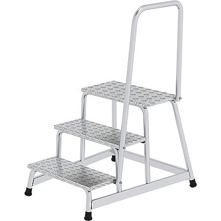 mit Stahl Gitterrost mit Handlauf 3 Stufen Arbeitsh/öhe bis ca 2,60 m Aluminium-Arbeitspodest fahrbar