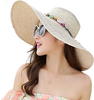 أزياء الصيف ملابس الشاطئ سترو قبعة طوي حافة واسعة قناع قبعة شاطئ لفة قبعة الشمس للنساء الفتيات هدية