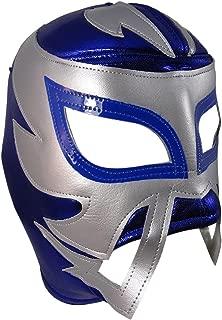 RAYMAN Adult Lucha Libre Wrestling Mask (pro-fit) Costume Wear - Blue/Grey