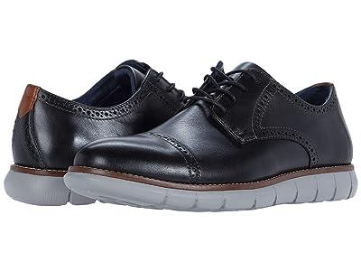Johnston & Murphy Milson Cap Toe (Black Full Grain Leather) Men
