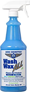 Aero Cosmetics Wet or Waterless Car Wash Wax 32 fl. oz Aircraft Quality for Your Car, RV, Boat, Motorcycle. Anywhere, Anytime, Home, Office, School, Garage, Parking Lots.: image