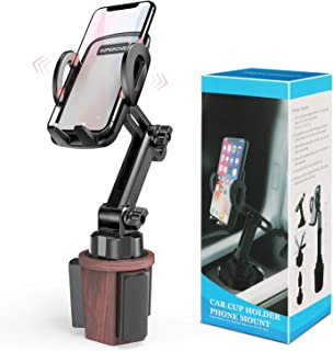Cup Holder Phone Mount for Car, SUPERONE Adjustable Cup Holder Car Mount Compatible with iPhone 11, 11 Pro, 11 Pro Max, XS Max, XS, XR, Galaxy S20 Ultra, S20+, S20 and More