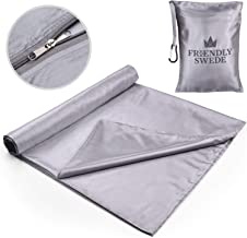 The Friendly Swede Sleeping Bag Liner - Travel and Camping Sheet, Pocket-Size, Ultra Lightweight, Silky Smooth Cool or Cotton Soft Warm Microfiber with Stuff Sack for Every Occasion All Year Around
