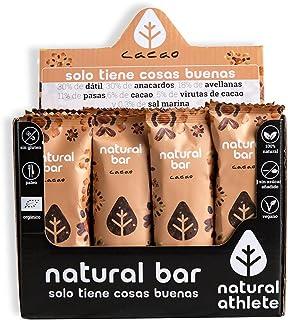 Barritas Energéticas Cacao Natural Athlete, Sin Azúcar Añ