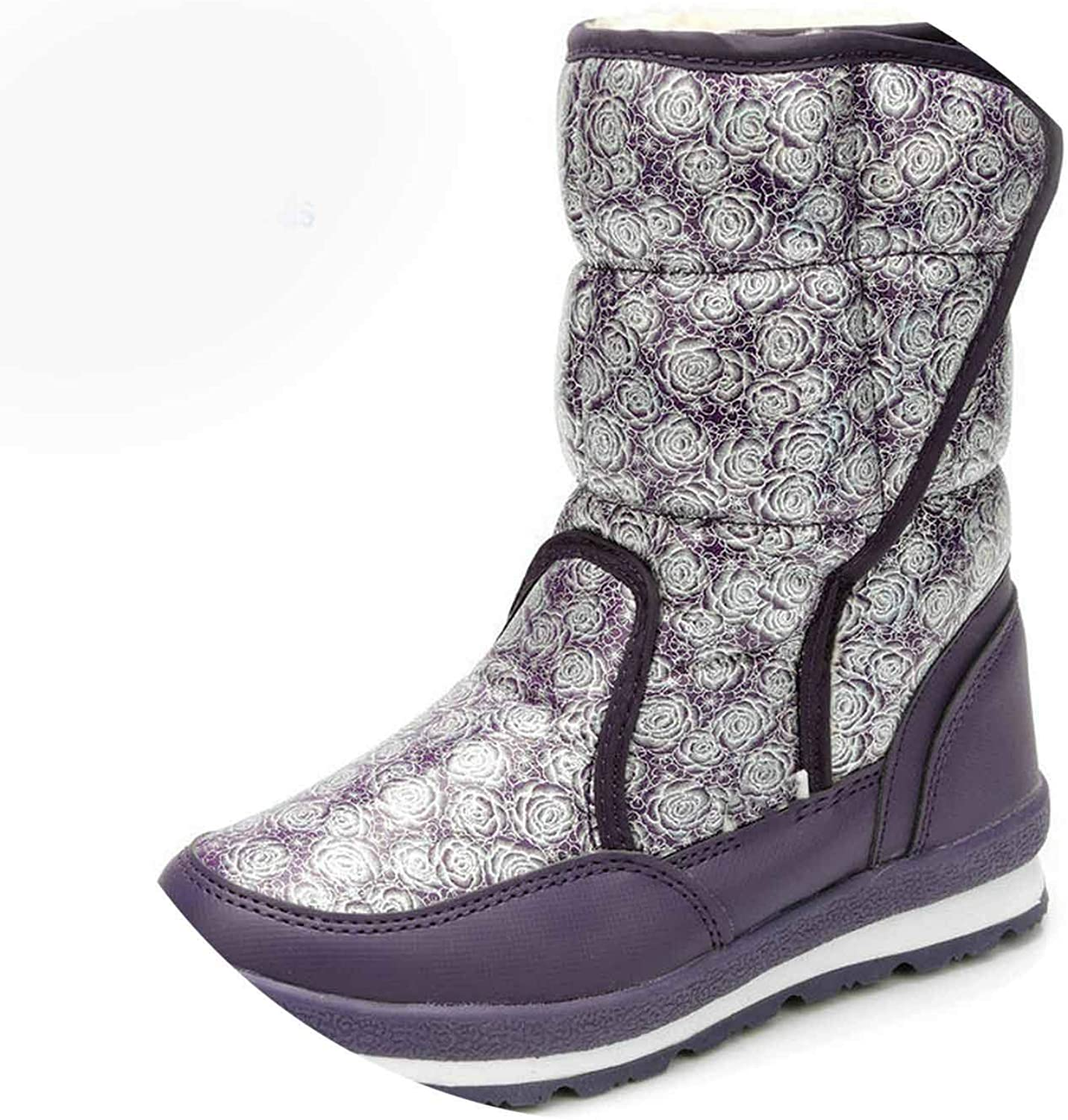 Thirsty-X Purple Women Boots shoes Brand Snow Boots Winter shoes Full Size Anti-s Warm Lining Good sel