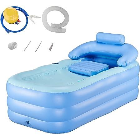 CO-Z Baignoire Gonflable pour Adultes Enfants, Baignoire Gonflable en PVC pour SPA Salle de Bain