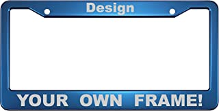 engraved license plate frame