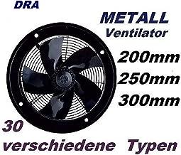 Uzman-Versand 250mm Ventilador Industrial Ventilación 1800m³/h Extractor Helicoidal aspiracion mura pared ventana