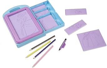 Melissa & Doug Princess Design Activity Kit (9 Double-Sided Plates, 4 Colored Pencils, Rubbing Crayon)